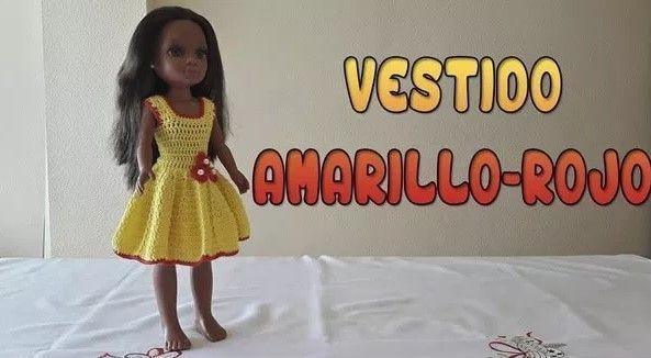 Vestido a crochet para muñeca Nancy