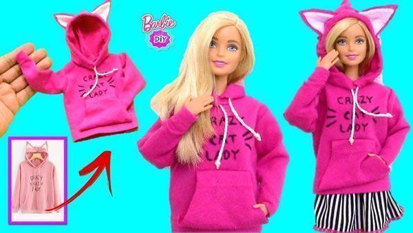 Suéter buzo para muñecas