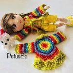 Suéter mándala para muñecas tejido a crochet