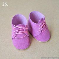 Zapatos de fieltro para muñecas