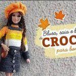 DIY Blusa, Falda y Boina Tejidos a Crochet