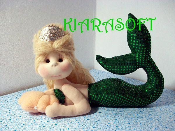 Muñeca sirena soft con patrón