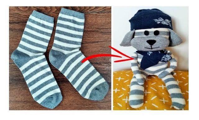 Como hacer un muñeco peluche con calcetines
