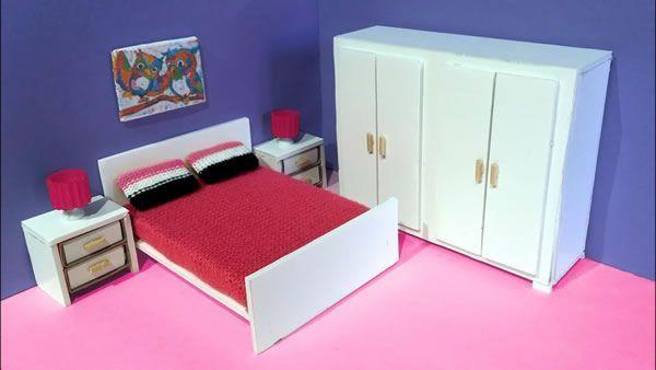 DIY Dormitorio para casa de muñecas