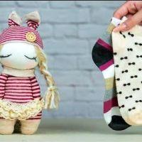 Muñeca con calcetines Tutorial paso a paso