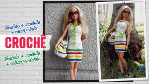 Conjunto de vestido y complementos para Barbie