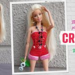 Enterizo o mono de shorts corto para Barbie