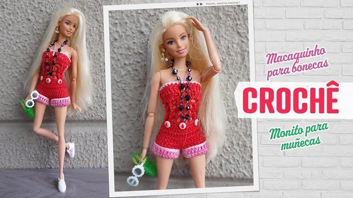 Enterizo o mono de pantalón corto para Barbie