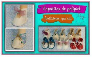 Zapatitos para muñecas tutorial y moldes