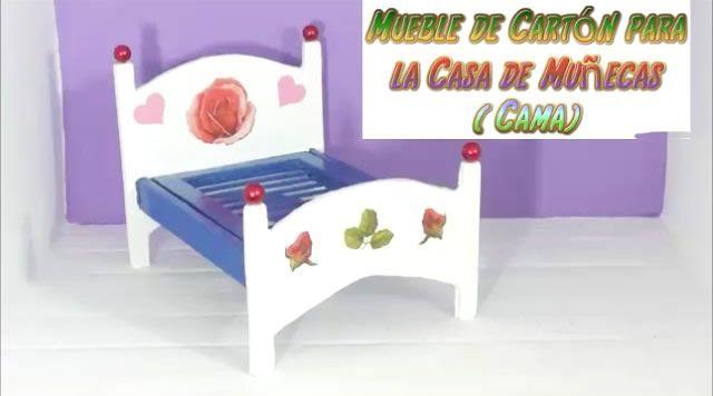 DIY Cama de muñecas con cartón PASO a PASO