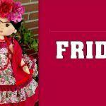 Muñeca de tela Frida con videotutorial y patrones