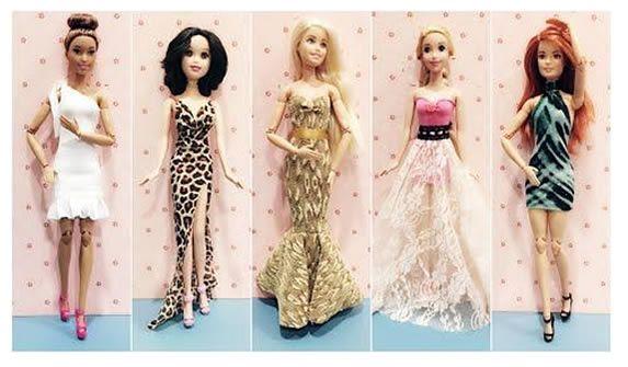5 vestidos para Barbie videotutorial