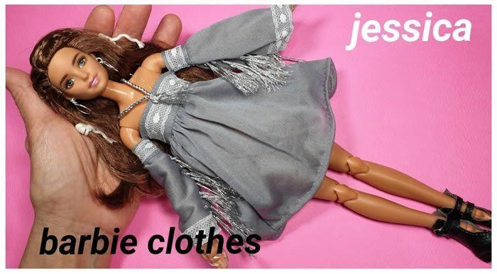 DIY Vestido para muñeca Barbie paso a paso
