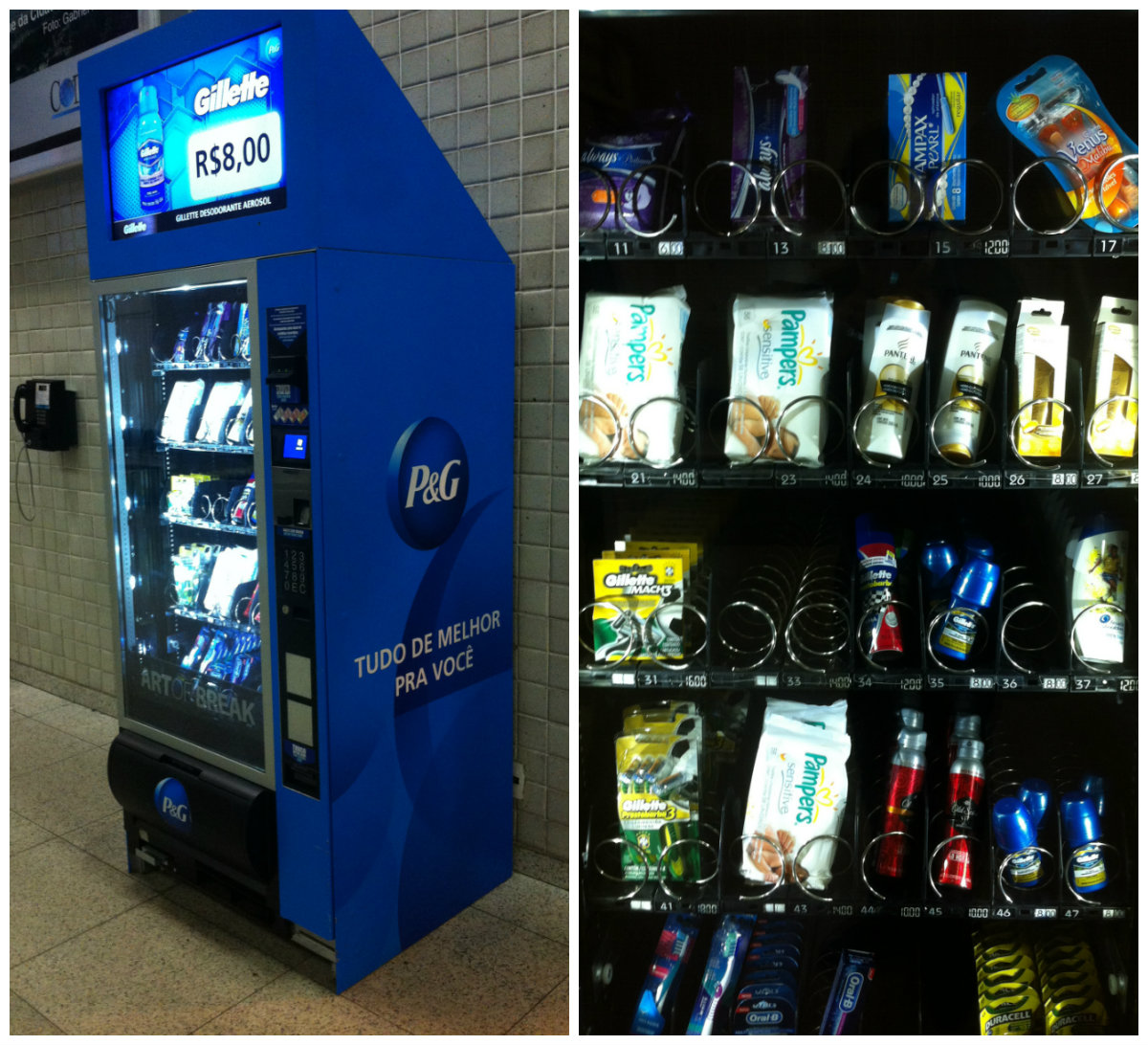 P&G, vending machine