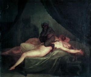 Demonios en nuestras pesadillas por Nicolaj Abraham Abildgaard