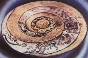 Extrano mensaje en las piedras dropa e1346955603465 300x198 Las piedras Dropa, vestigios de una antigua civilización
