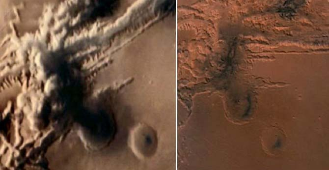 Sonda espacial hongo nuclear Marte