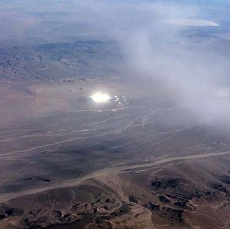 Gigantesco ovni esferas luz Área 51