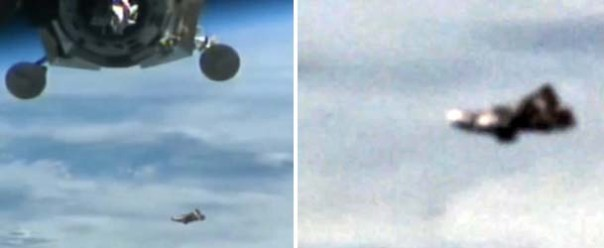"Increíble video muestra al legendario satélite extraterrestre ""Caballero Negro"" cerca de la ISS"