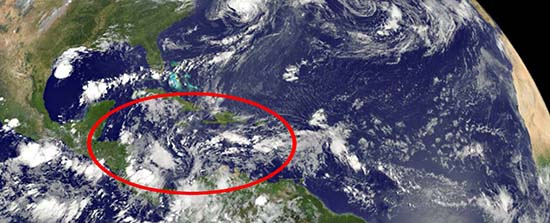 Extraño sonido no audible mar Caribe