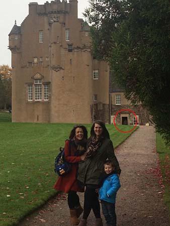 Fantasma de una mujer castillo escocés