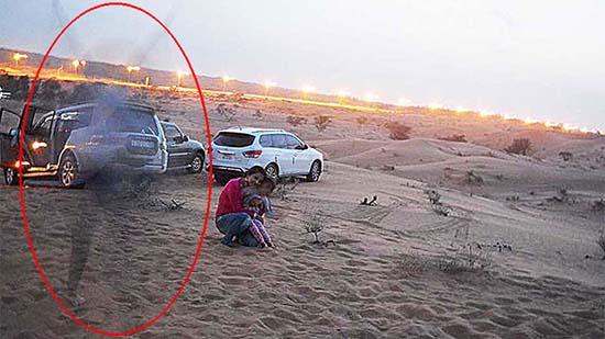 Presencia espectral desierto Emiratos Árabes