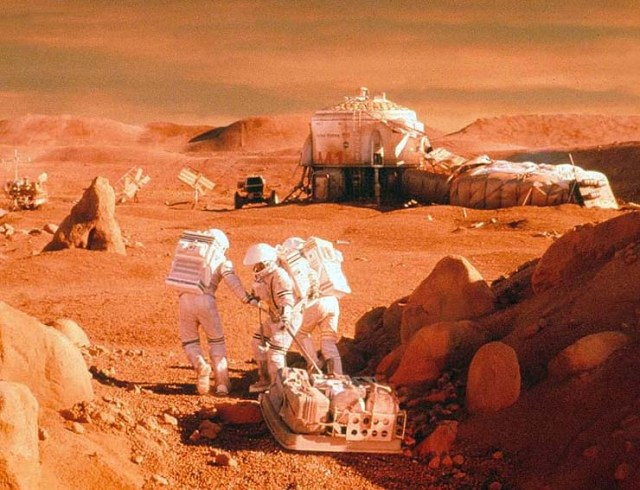 colonies of kidnapped children on Mars