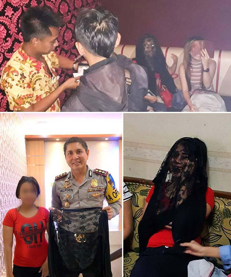 ghost vampiric bar indonesia - Spooky image shows a vampiric ghost during a raid at an Indonesian bar