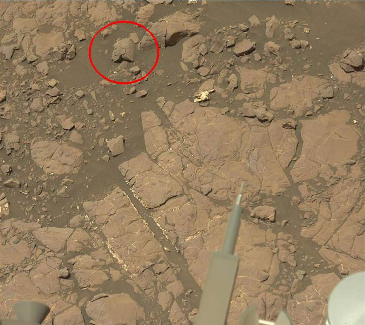 statue of an extraterrestrial warrior woman on Mars