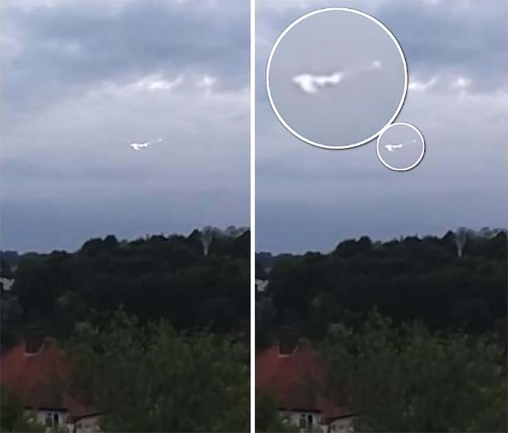 UFO on a base of the Royal British Air Force
