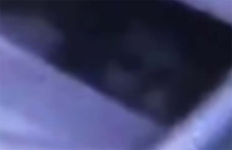 ghostly face baby crib - Parents terrified after seeing a ghostly face next to their baby's crib