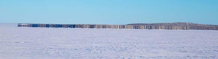 île fantôme lac gelé finlande - Une «île fantôme» apparaît dans un lac gelé en Finlande