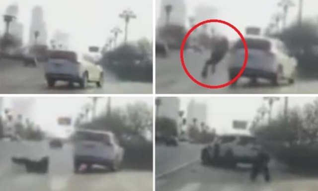teleported person Chinese accident - A video shows the moment when a teleported person causes an accident in China