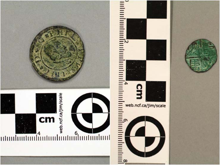 Spanish currency - Utah coin found in a Spanish coin minted 200 years before the arrival of Columbus to the New World