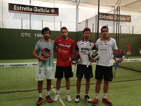 Ganadores 1ª cat masculina Martín-Jorge vs Fernando-Jorge