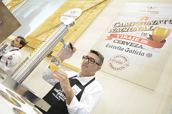 Javier Sánchez, Mejor Tirador de Cerveza de Andalucía 2014