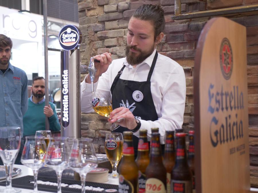 Benjamín Seoane Mejor Tirador de Cerveza de Galicia