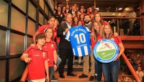 Deportivo Femenino celebra ascenso en la Cervecería Estrella Galicia de Cuatro Caminos
