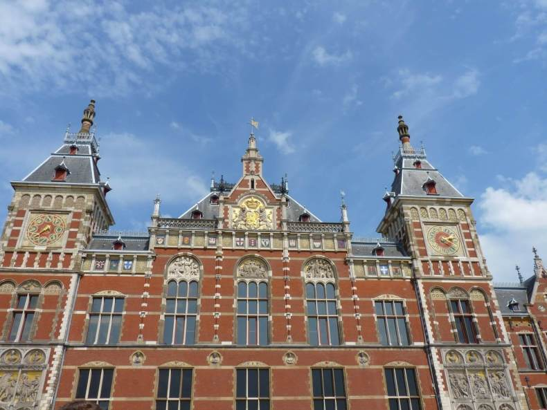 Amesterdão Países Baixos Estação Central 01 Mundo Indefinido