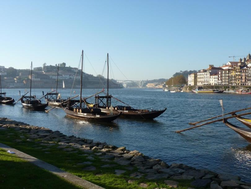 Barcos Rabelos Porto Portugal Mundo Indefinido