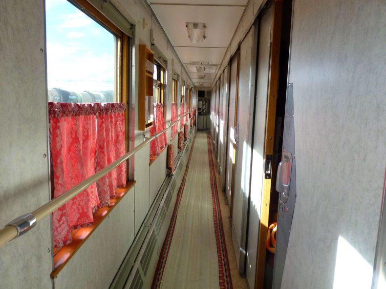 Corredor 2a classe Mongolia Transiberiano Mundo Indefinido