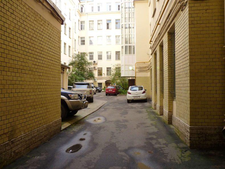 Simple Hostel pátio São Petersburgo Rússia Mundo Indefinido