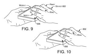 Imagen boceto de una nueva patente de Microsoft para el desbloqueo de equipos