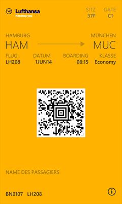 Billete de avión en Passbook Converter