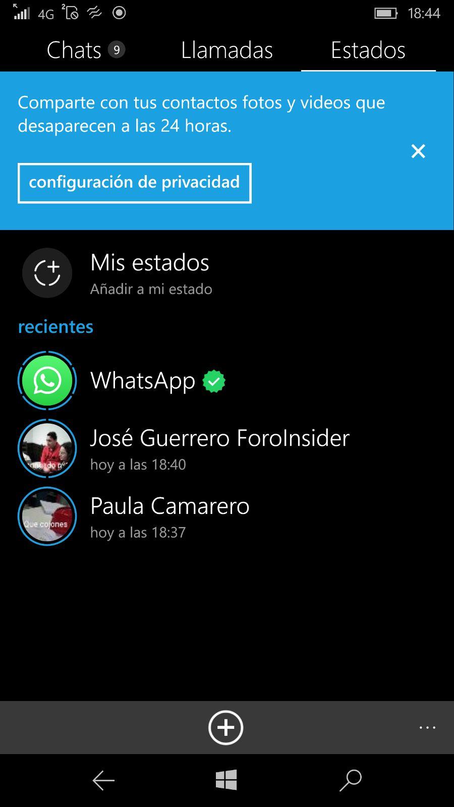 Whatsapp Status Está Siendo Desplegado Para Windows 10