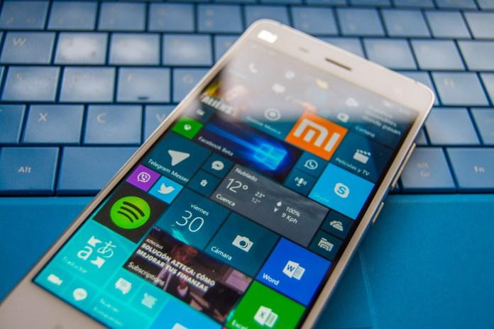 Xiaomi con Windows 10 Mobile