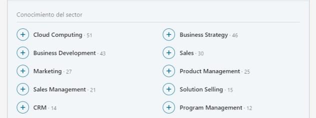 Conocimientos de un sector de LinkedIn para recursos humanos IT