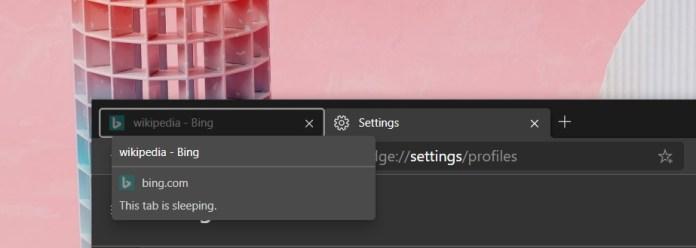 """""""Sleeping Tabs"""" de Edge reducirá el uso de RAM"""