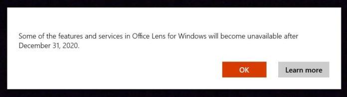 Microsoft descontinúa la aplicación Office Lens para su propia plataforma