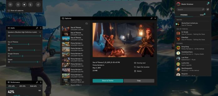 Xbox Game Bar de Windows 10 obtiene un nuevo widget de recursos